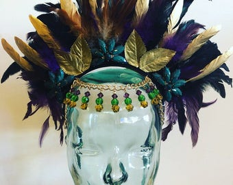 Mardi Gras Mambo Feather Headdress