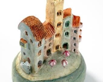 Terrazzo Island   Handmade miniature island   Sculpture   OOAK
