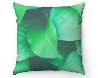 Leaf Pillow, Floral Pillow, Rain Forest Pillow, Rain Forest Theme Bedroom,  Rain
