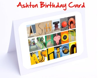 Ashton Personalised Birthday Cards