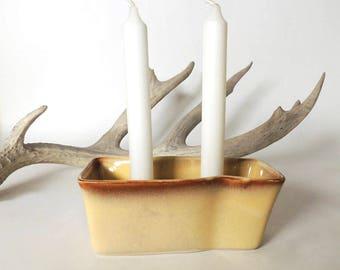 Mid Century Modern Candleholder S. Ballard Studio Art Pottery Vintage 1950's