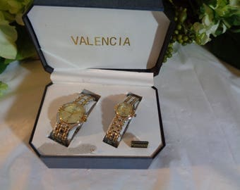 His & Hers Two Toned VALENCIA Watches in Case Stainless Steel Water Resistant