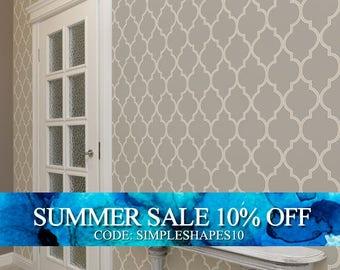 Moroccan Warm Grey Peel & Stick Fabric Wallpaper Repositionable