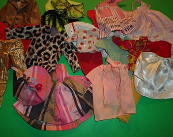 "Barbie or 11"" - 12"" Doll Factory Made and Mommy Made Clothing Vintage  Lot B"