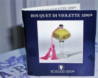 Borsari Bouquet Di Violette 1890 carded sample vial, rare. Eau de parfum 1.5 ml