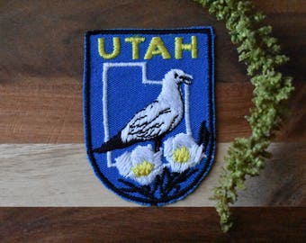 Vintage Utah Travel Patch