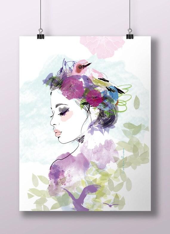 Grande Affiche Encadrer Format A2 42x595cm Illustration