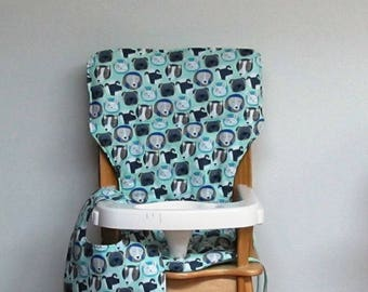baby cotton high chair cushion, eddie bauer chair pad, kids feeding chair, child seat protector replacement cover, dogs with matching bib