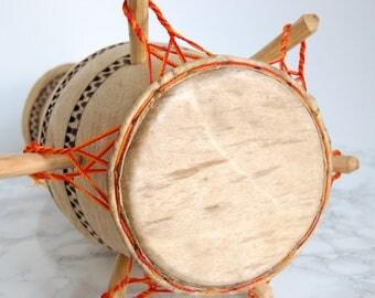Authentic West African Drum - Ghana Kpanlogo Drum - Wood Djembe Drum Goat Skin