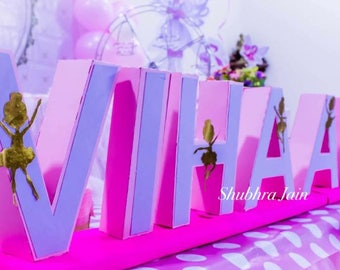 Birthday letters, centerpieces, 3D custom letters, wedding letters