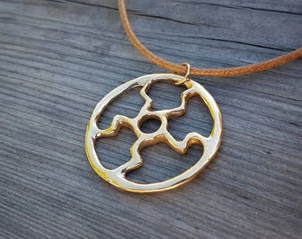 Handmade Sun wheel pendant.