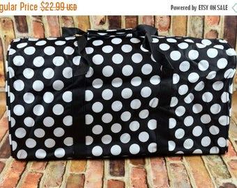 ON SALE Duffle Bag   Personalized Duffle Bag   Overnight Tote Bag    Monogrammed Carry On   Monogrammed Duffel Bag   Polka Dot Duffle Bag  