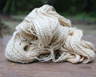 Natural Slub Cotton Yarn - Pastel Cream Yellow 9