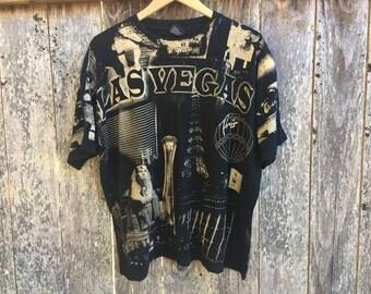 Las Vegas Mosquitohead All Over Print T Shirt Hoss Tee Large L