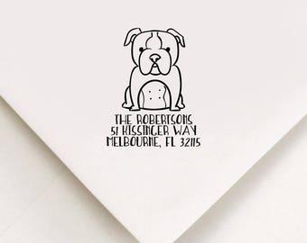 Bulldog Return Address Stamp, Custom Stamp, Self Inking Stamp, Bulldog Address Stamp, Custom Address Stamp, Housewarming Gift, Realtor Gift