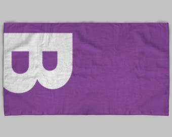 Custom Hand Towels Monogram Hand Towel Purple Bathroom Decor Personalized Bath Towels