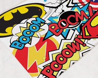 Superhero Bathroom, Bath Mat, Bathroom Rug, Marvel Room Decor, DC Super Hero, Kids Bath Mat, Superhero Room Decor, Marvel Birthday, Geek Mat
