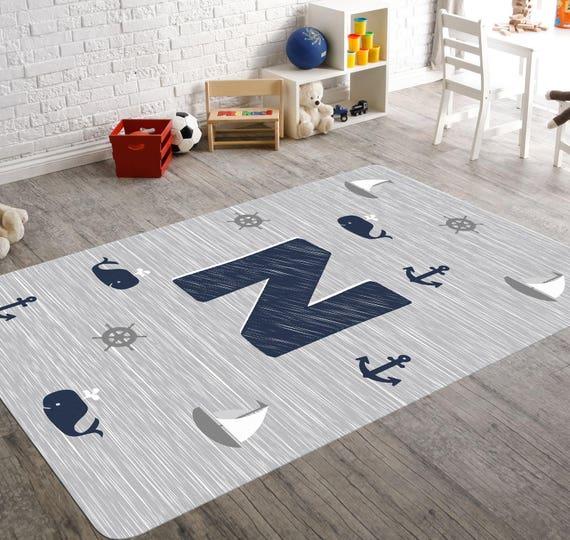 nautical rug monogram rug nautical nursery navy and grey