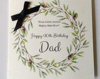 Personalised Birthday Card Dad, Husband, Grandad, Brother, Son, Uncle 30th 40th 50th 60th  70th 80th 90th 100th