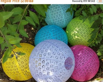 Christmas in July Deals Floral Eyelet Paper Lace Lantern