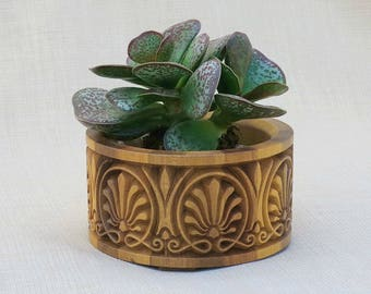 Succulent Air Plant Planter Wood - Cylindrical shape