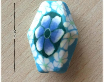 pretty little faceted oblong polymer
