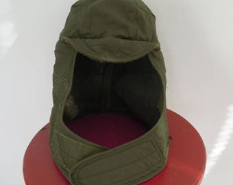Military Army Helmet Liner Wool Winter Cap Large Chin Strap Size 7 1/2 Cold Weather Insulating Helmet liner Winter Cap Hat Like New