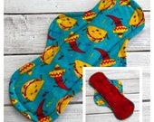 "Tacos Flannel 12"" Cloth Menstrual Pad - Mama Cloth"