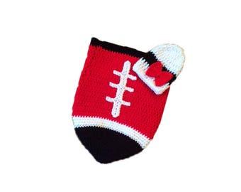 Atlanta Fan Favorite Baby Girl Football Cocoon & Hat (Newborn to 3 months)