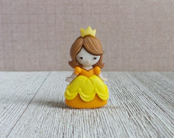 Yellow Dress - Princess - Just Like Me - Brown Hair - Little Girl - Lapel Pin