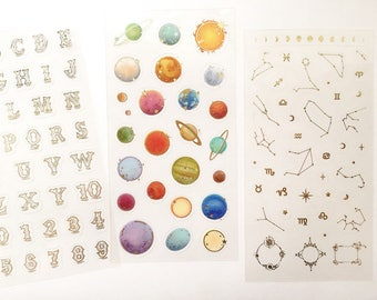 Gold Foil Stickers // Scrapbooking embellishment // DIY essentials