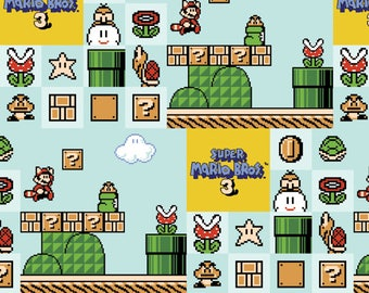Nintendo Fabric Super Mario Brothers 3 Fabric From Springs Creative 100% Cotton