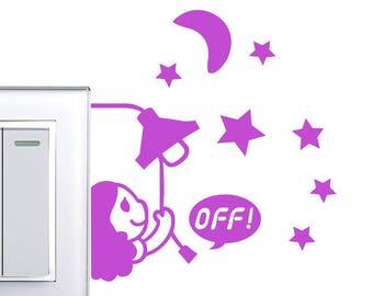 1 X Sticker little purple girl switch