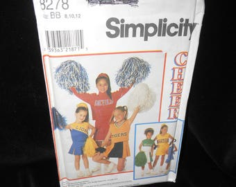 Childs Cheerleader Outfits Simplicity 8278 Girls sizes 8 10 12 Cheerleader Outfit Design Your Own Pattern