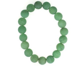 10mm Stretchy Matte Adventurine, 10mm Round Matte Adventurine, Elastic Matte Adventurine Bracelet, Natural Matte Adventurine Beads