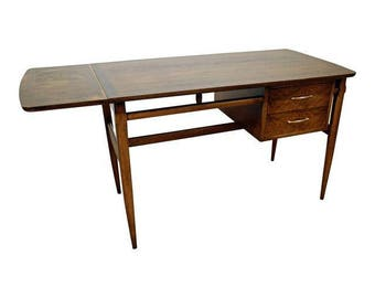 Mid-Century Danish Modern Lane Walnut Drop-Leaf Desk
