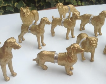 Dog place holders and wedding favours in one silver x 50 dogs