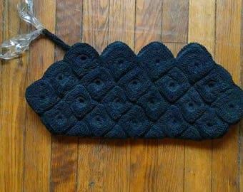 1940s Corde Crochet Clutch with Lucite handle