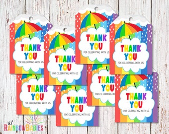 PRINTABLE Baby Shower Thank You Tags, Rainbow Baby Thank You Tags, Printable Thank You Tags, Rainbow Baby Shower Thank You, Thank You Baby