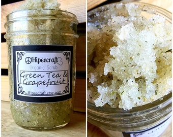 Organic Body Scrub Organic Sugar Scrub Natural Body Scrub Green Tea Grapefruit Body Scrub