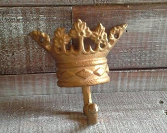Vintage Cast Aluminum Crown Hook