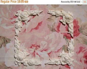 On Sale10% Shabby and Chic Rose & Leaf Corners (4 pcs) Furniture Appliques Architectural