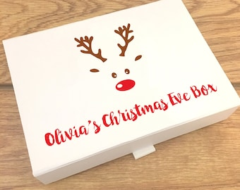 Christmas Eve Boxes, Personalised Gift box, Christmas Eve box Fillers, Christmas Eve, Gift Box, gift box with Lid, christmas eve treats