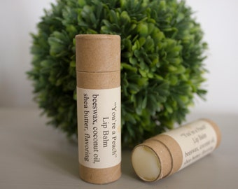 Natural Flavored Lip Balm with Eco-friendly Tube