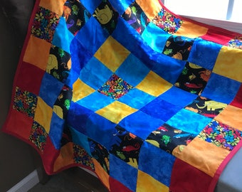 Bright Jungle Print Blanket for Baby or Toddler