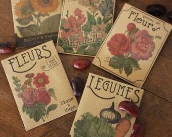 Sachets de graines - cadeaux d'invités mariage