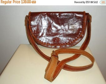 The SALE Is On SALE Beautiful Vintage Cognac Leather Shoulder Bag
