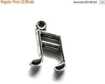 HALF PRICE 10 Silver Music Note Charms