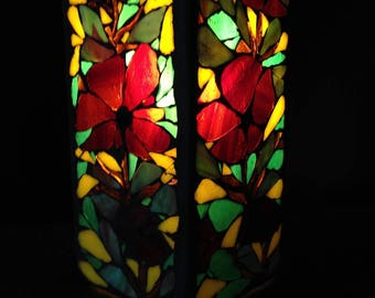 To order. Nice poppy, Mrs. Mosaic stained glass lamp.