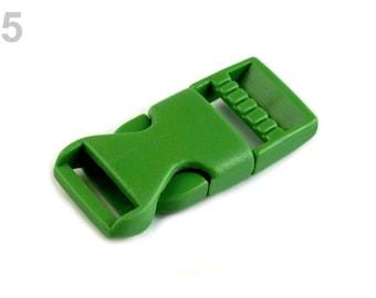2 buckle strap 15 mm green plastic